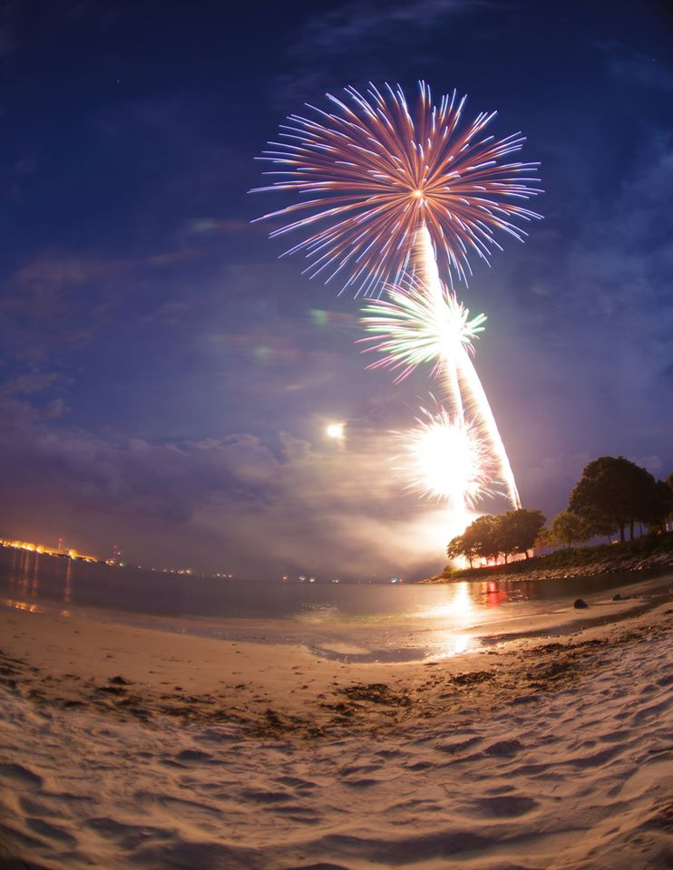 Fireworks over McCook's