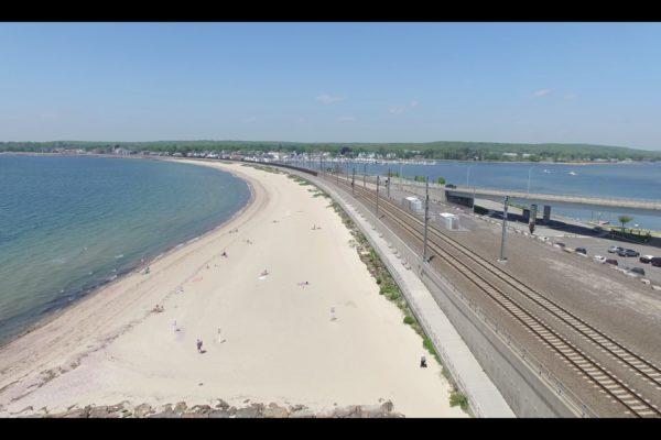 Boardwalk from Drone