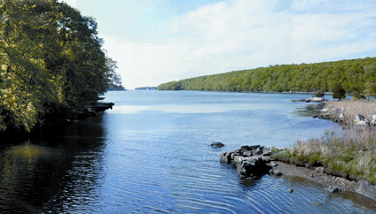 Oswegatchie Hills and Niantic River Panorama
