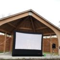 Movie Screen at McCook Point Park Bandshell