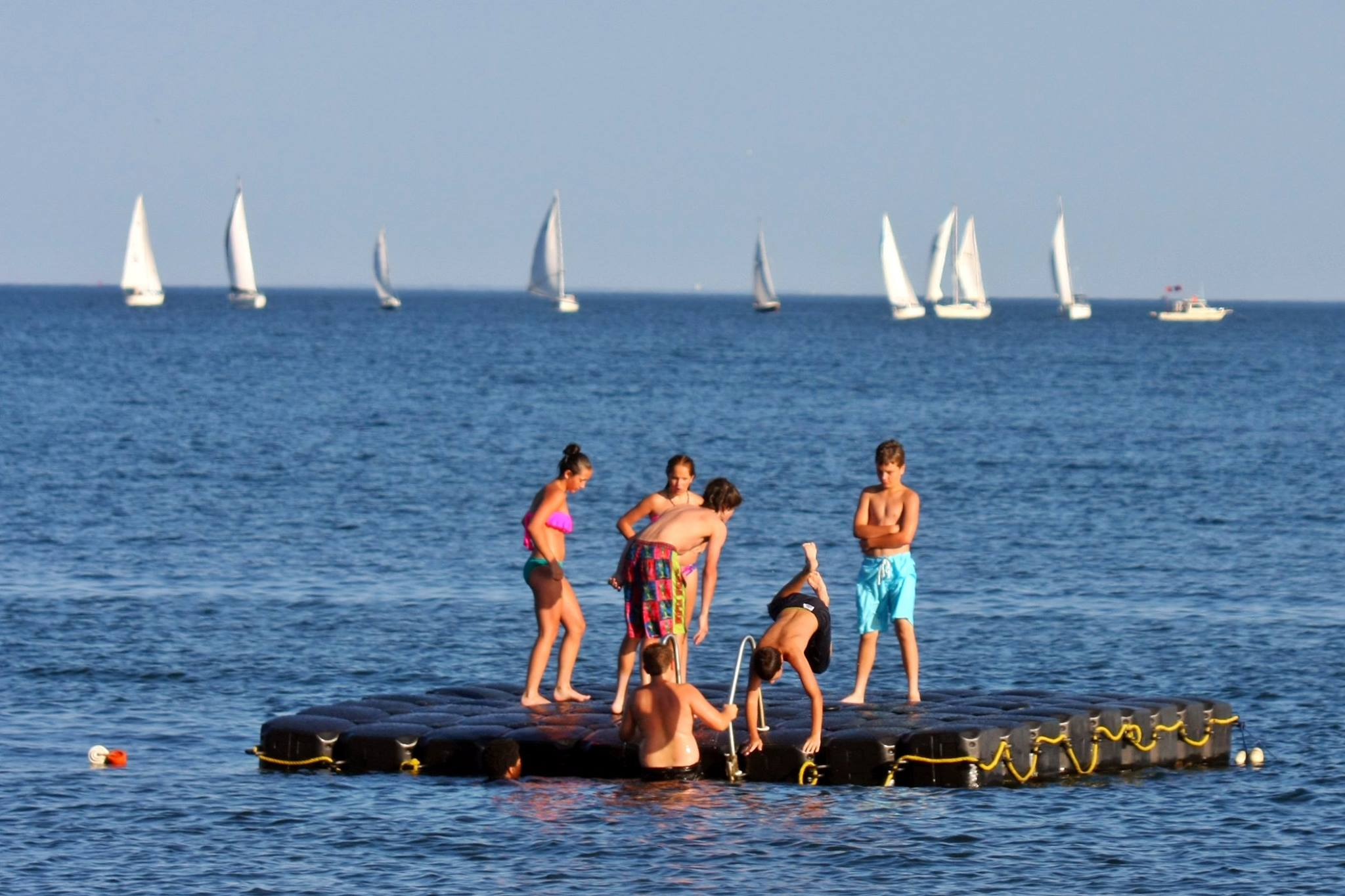 McCook Point Beach raft