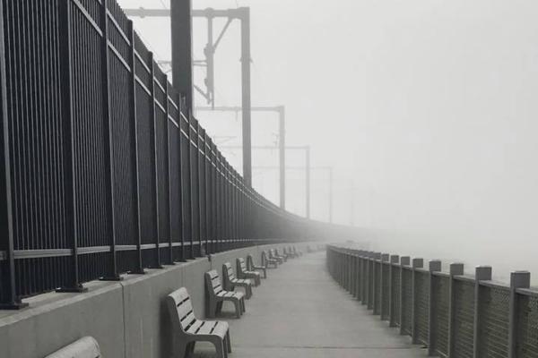 Niantic Bay Boardwalk - Fog
