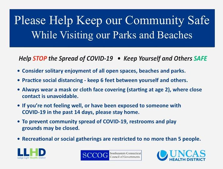 Keep our community safe while visiting Parks and Beaches