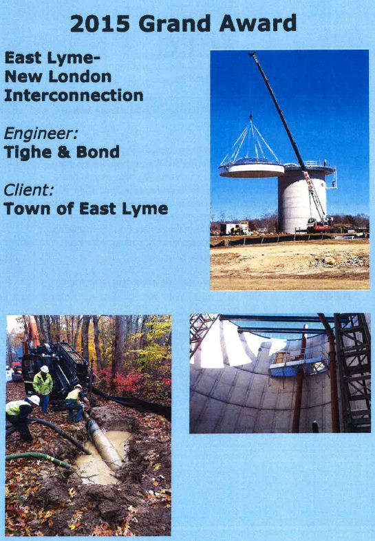 East Lyme - New London Water Interconnection 2015 Award Poster